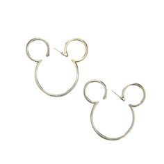 Minnie Mouse Silhouette Hoop Earrings
