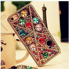 OMG.    rhinestone iphone 5 case bling iPhone4S case by Luxuryphonecase88, $23.99