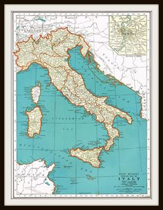 Antique Map ITALY SWITZERLAND 1939 Buy 3 maps by KnickofTime