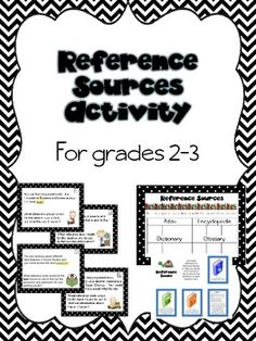 Reference Sources Activity for Grades Reference Book, Media Center, Teaching Reading, The Book, Encouragement, Let It Be, Activities, Books, Language Arts