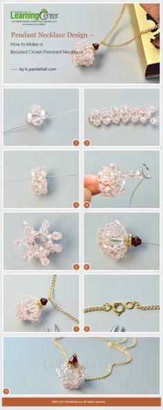 Pendant Necklace Design – How to Make a Beaded Crown Pendant Necklace