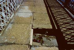 Hole in Manhattan Bridge walkway  (1980) by stevensiegel260, via Flickr