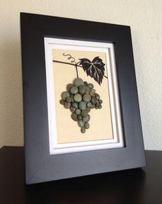 Arte uva vid vino verde pared arte decoración decoración
