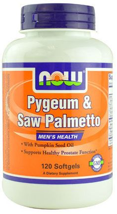 NOW Foods Pygeum & Saw Palmetto -- 120 Softgels