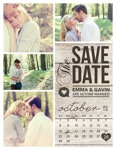 Save The Date Magnet or Card . Modern Rustic por MidwestDesign