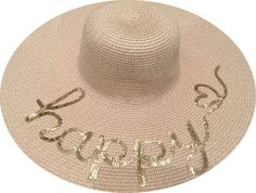 Happy Hat from Summer Sequins Etsy Shop | #happy #sunhat #summersequins