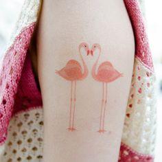 temporary flamingo tattoo