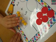 Use these mats to teach the concept of adding two groups together in a visual and concrete way. These mats allow for students to see and manipulate groupings in different ways including ten frames. Once students understand the addition concept these mats can be used as independent practice. Students can use dry-erase, playdough or manipulatives with these mats.