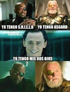 While there have been plenty of unforgettable sibling relationships in movies and television, few have been as compelling and fun as Thor and Loki in the string of Thor and Avengers movies over the last seven years.Read This Top 22 Loki Memes Marvel Funny Marvel Memes, Avengers Memes, Funny Jokes, Marvel Avengers, Funny Spanish Memes, Spanish Humor, Mundo Marvel, Frases Humor, New Memes