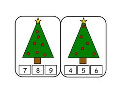 Christmas Tree Count Number Card for a Christmas Theme from Making Learning Fun. Christmas Math, Christmas Activities For Kids, Preschool Christmas, Noel Christmas, Easter Crafts For Kids, Christmas Themes, Christmas Crafts, Theme Noel, School Decorations