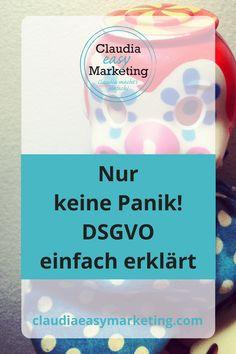 #DSGVO einfach erklärt - 9 Schritte #Anleitung #Datenschutz #Datenschutzverordnung #onlinemarketing #Marketing