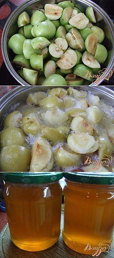 """Яблочный «мёд».. Из яблок можно приготовить отличную заготовку на зиму - яблочный """"мед"""". Натуральный пектин, содержащийся в яблочной кожуре придаст со временем сиропу структуру желе."""