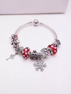 50% OFF!!! $239 Pandora Charm Bracelet Red Christmas Gift. Hot Sale!!! SKU: CB01282 - PANDORA Bracelet Ideas