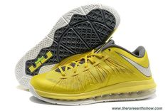 4dbc96732d25 Authentic Sonic Yellow Nike Air Max LeBron 10 Low Sonic Yellow   Sail -  Cool Grey - Tour Yellow For Sale
