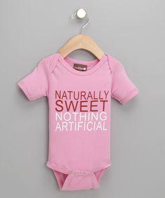 Pink 'Naturally Sweet' Organic Bodysuit