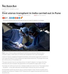 First uterus transplant in India carried out in Pune