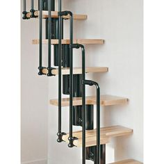 Karina: The Small Yet Beautiful Space Saver Staircase - Dachboden ideen Modular Staircase, Staircase Design, Small Staircase, Loft Staircase, Attic Stairs, Lofts, Space Saver Staircase, Stair Kits, House Stairs