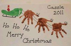 Christmas - Handprint Sleigh & Reindeer