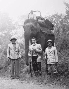 photo Errol Flynn goes on real safari on location film Kim 142-25