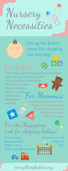 Wait! Don't go waving that registry gun all over the baby store until you read this! If you want baby to be a good sleeper...Nursery Necessities - everythingbabies.org PLUS MY FREE BABY SLEEP GUIDE!