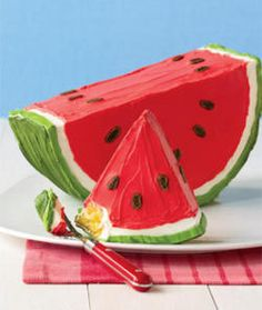 Summer - Watermelon theme cake - For all your cake decorating supplies, please visit craftcompany.co.uk
