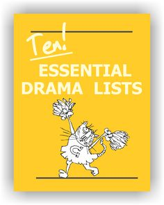 Every drama teacher needs these printable lists. TEN complete lists: animals; adjectives and adverbs, colors, emotions, characters, obstacles and party quirks, occupations, places and environments, props and costumes. FREE to Drama Notebook members. https://www.dramanotebook.com/drama-curriculum/ten-essential-lists/