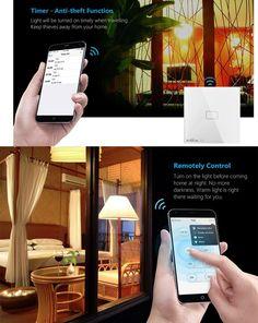 Broadlink Smart Home Original Touching 1 Load Panel Switch Wireless Remote Light Controller(UK Plug) - Tmart Smartwatch, Apple Technology, Smart Home, Plugs, Remote, Touch, The Originals, Smart Watch, Smart House