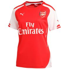 Arsenal's home women's jersey is tailored specifically for female supporters. Available now!