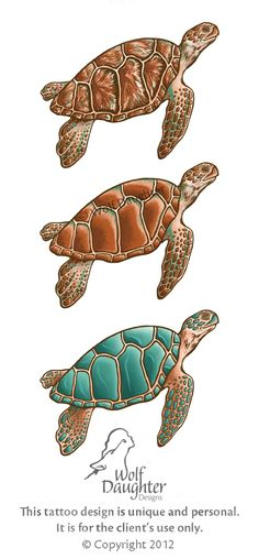 No tattoos for me. But I love sea turtles.         Sea Turtle Tattoo Design by ~Wolf-Daughter on deviantART