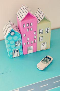 Hus av mjölkkartong   DIY Mormorsglamour