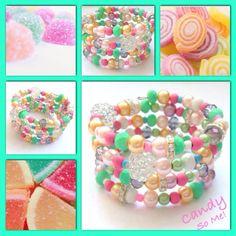 Candy! Moderne, mooie zelfgemaakte armbanden, glas parels, glas kralen , Memory wire, http://some-accessoires.nl