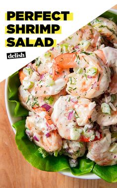 Salad These Shrimp Salad Lettuce Wraps are ready in under 20 minutes. Get the recipe at .These Shrimp Salad Lettuce Wraps are ready in under 20 minutes. Get the recipe at . Fish Recipes, Seafood Recipes, Cooking Recipes, Healthy Recipes, Dinner Recipes, Lettuce Salad Recipes, Recipies, Seafood Appetizers, Cooking Bacon