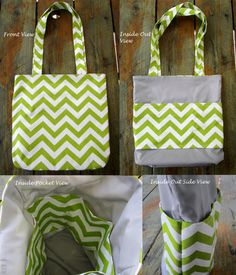 Gotta make this!! Large Chevron Tote Bag  Chevron Tote  You by LittleFootBoutique, $35.00