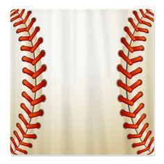 Baseball Texture Ball Shower Curtain
