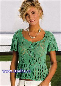 Ажурная блузка с баской. Обсуждение на LiveInternet - Российский Сервис Онлайн-Дневников