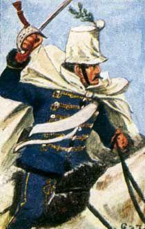 Österreich-Ungarn 1864: Husar des Lichtenstein-  Husaren-Rgts. Nr. 9.  Sie…