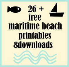MeinLilaPark – DIY printables and downloads: ☞ Over 26 free maritime beach printables and nautical downloads