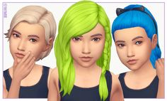 WildlyMiniatureSandwich — All Kids Room Stuff hairs recoloured!Download on...