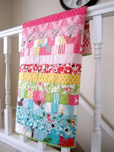 It's A Hoot Baby Girl Quilt by liltulip on Etsy