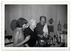 Citation: Jackson Pollock carving a turkey with his mother and Lee Krasner, 1950 / unidentified photographer. Jackson Pollock and Lee Krasner papers, Archives of American Art, Smithsonian Institution.