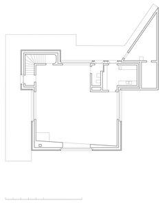 K+N Residence, Zurich, Switzerland, 2005 - Valerio Olgiati.  Ground Floor Plan.