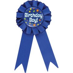 "Club Pack of 12 Decorative Cobalt Blue ""Birthday Boy"" Award Ribbons Blue Birthday, Boy First Birthday, 1st Boy Birthday, Birthday Photo Booths, Birthday Photos, Neon Party, Colorful Party, Gold Number Balloons, Presents For Boys"