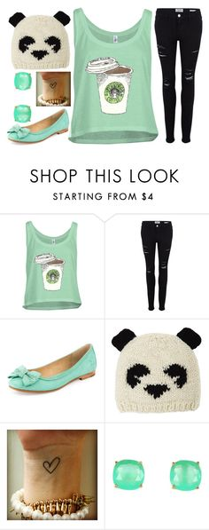 """Panda"" by sirendoom ❤ liked on Polyvore featuring Frame Denim, Frye, BCBGMAXAZRIA, Kate Spade, starbucks, panda, mint, coffee and chill"