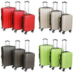 Travel Suitcase Luggage Set 3 Bag Case Baggage Trolley Lightweight ...
