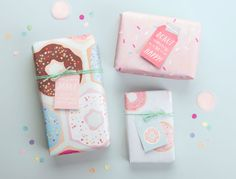 FREE printable donuts papers | Donut Party Printables - Tinyme Blog