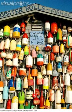 USA, Massachusetts, Cape Cod, Provincetown, lobster buoys