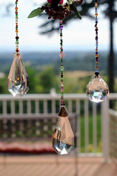 Hanging crystal suncatcher by DilliesnDangles on Etsy