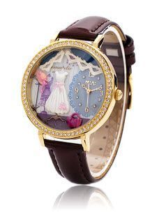 Rödbrun 3D Mini World Watch - Princess via Fashionista Secret Shop. Click on the image to see more!