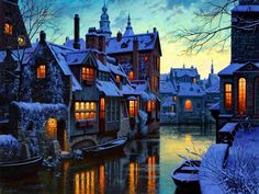 Winter in Bruges (Belgium). Bruges is located in the North West Of Belgium and it is the largest city of the Province of West Flanders, and also the Capital of this country. Places Around The World, Oh The Places You'll Go, Places To Travel, Travel Destinations, Places To Visit, Around The Worlds, Travel Europe, Photos Voyages, Dream Vacations