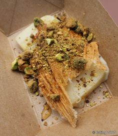 2012 Food & Wine Greece: Griddled Greek Cheese with Pistachios and Honey